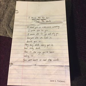 Other - I Wrote This For You: Just the Words by Ian Thomas
