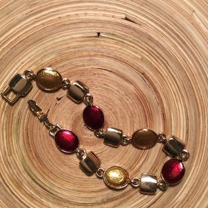 Jewelry - Gold &a Red Bracelet