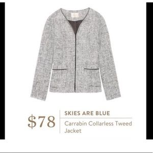Stitch Fix Skies are Blue Tweed blazer
