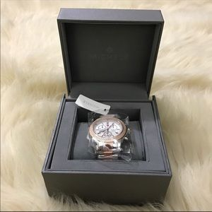 NIB Michele GORGEOUS diamond jetway two tone watch