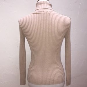 2d072045db37eb Kendall & Kylie Sweaters - Kendall & Kylie Beige Ribbed Turtleneck Sweater