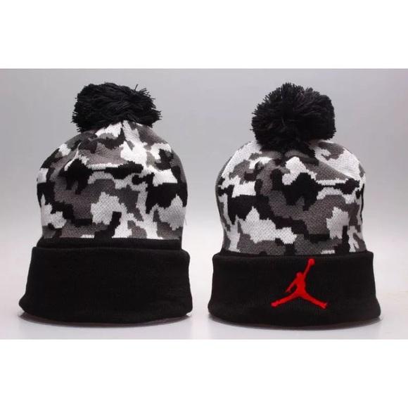 ae2b9b053 Jordan Jumpman Camo Pom Beanie Hat Cap NWT