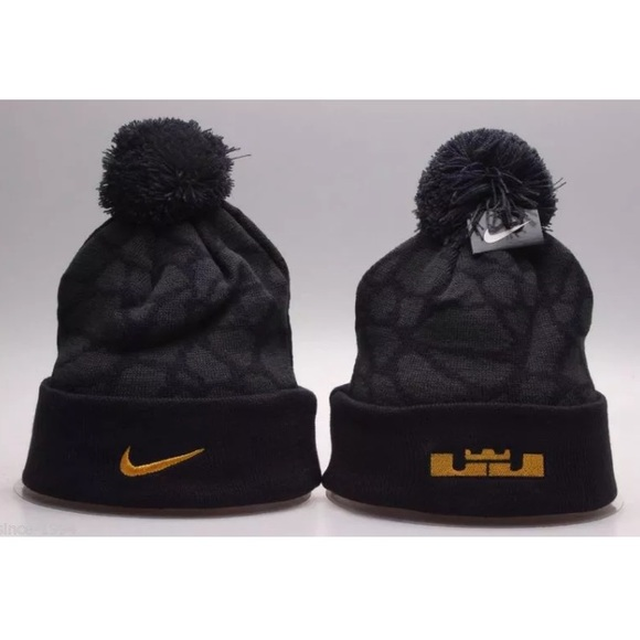 346a1d1b4c1 Nike Black Field General Pom Beanie Lebron