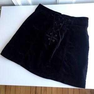 Forever21 Black Velvet Skirt