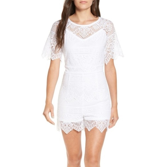 f68ace86f1bd love fire Other - Love fire white lace romper size small
