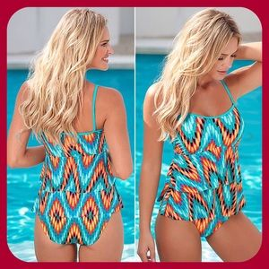 Other - Strappy Boho Tribal Layered Tankini