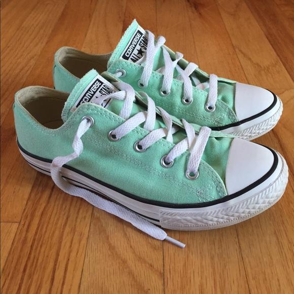 845f308bac2 Converse Other - Mint green converse low tops big girls 3 women s 6