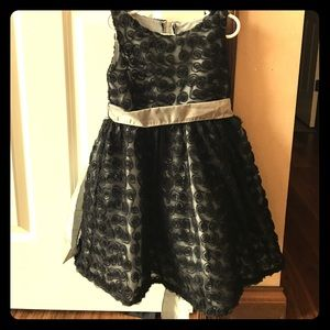 Beautiful Black Dress with Gray Sash
