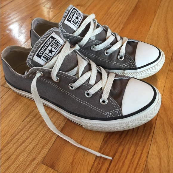b5a991f711a Converse Other - Gray converse low tops big girl 3 women s size 6