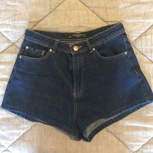 // Zara Dark Blue Jean Shorts //