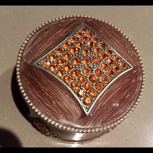 Other - ENAMEL & RHINESTONE TRINKET MINI BOX
