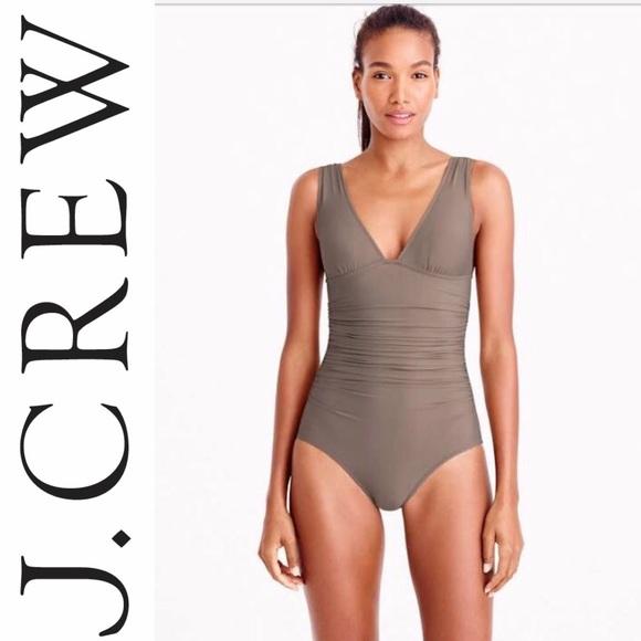 9a3c6c7bf345ef J. Crew Swim | Jcrew Long Torso Halter Ruched Onepiece Suit | Poshmark
