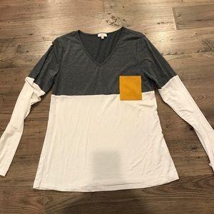 Stitch fix top by pixley- suede pocket