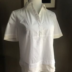 Perfect White Tory Burch Blouse Size 6