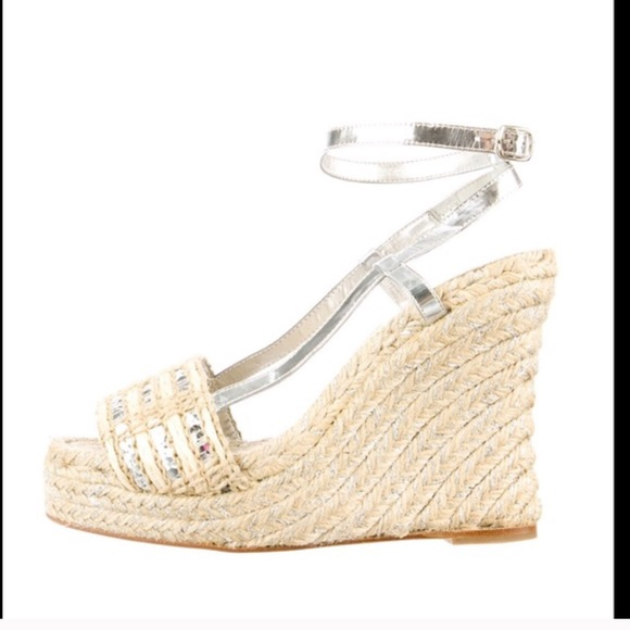 9154ccfcd57 kate spade Shoes - Kate spade New York espadrille wedges Sz 7 sequin