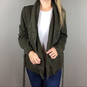 H&M Conscious Collection olive green jacket