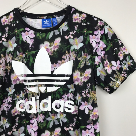 bdad43e055f adidas Tops | Orchid Logo Trefoil Boyfriend Tee Shirt | Poshmark