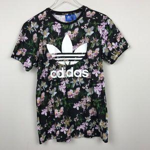 83bf13461e0 adidas Tops | Orchid Logo Trefoil Boyfriend Tee Shirt | Poshmark