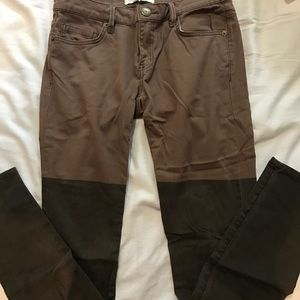 BCBG two toned brown jeans