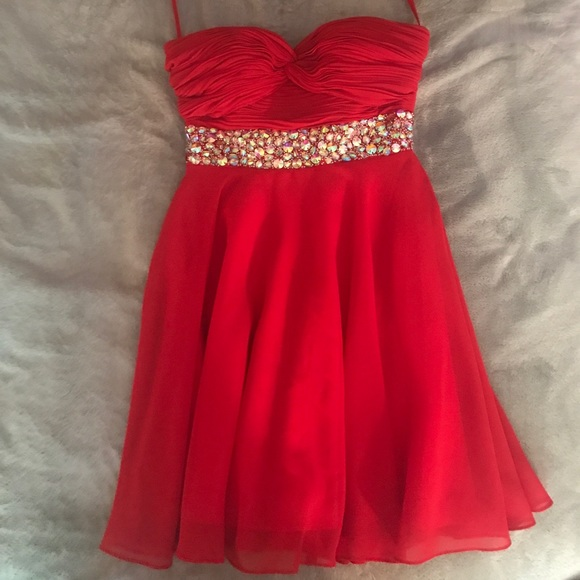 Dresses | Red Short Prom Dress Size 0