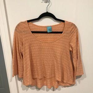 Tops - Nordstrom h.i.p. Peach bell sleeve shirt