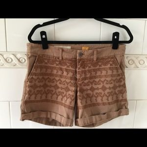 Anthropologie Pilcro Hypen Embroidered  Shorts