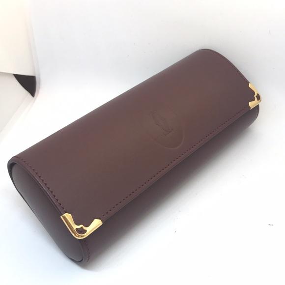 ee1ba1103e0 Cartier Accessories - New Cartier gold leather sunglasses glasses case