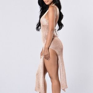 3b0b62a14f0 Dresses | Fiji Cover Up Rose Gold Dress | Poshmark