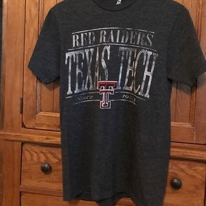 Tops - Vintage-Look Charcoal Texas Tech Red Raider Tee