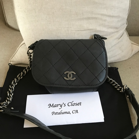 CHANEL Bags   Authentic Black Cross Body   Poshmark 4d58567b55