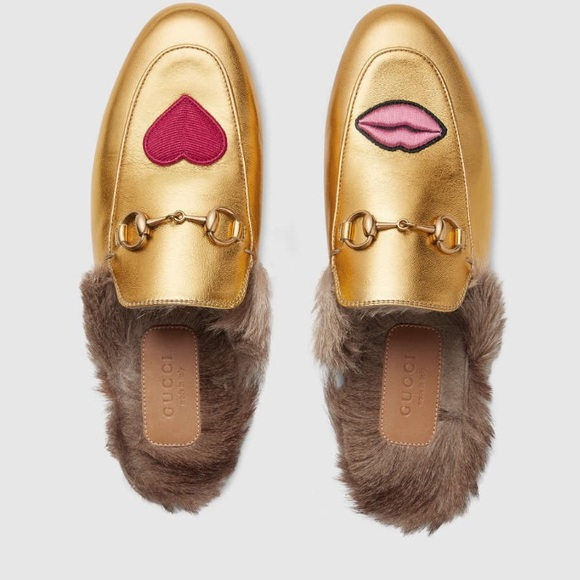 8f7b8ae257594 Gucci Shoes | Princetown Embroidered Leather Slipper Gold | Poshmark