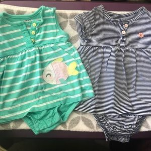 Lot of 2 6-9 month Rompers from Carters