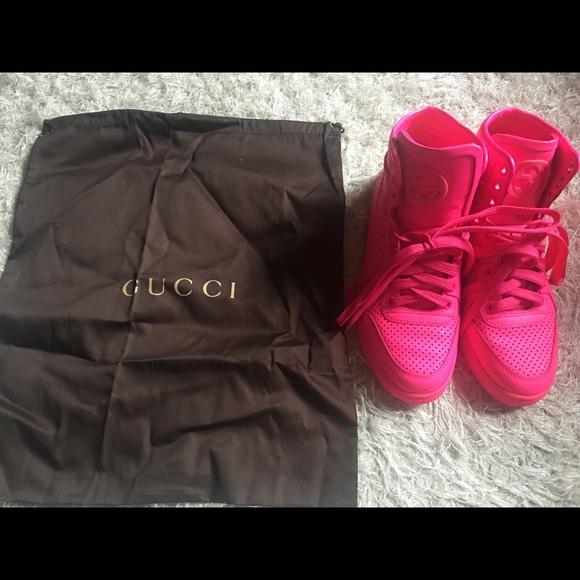 Gucci Shoes - Gucci Coda Neon Leather Hi-Top Sneakers 0a84e1c5cb0