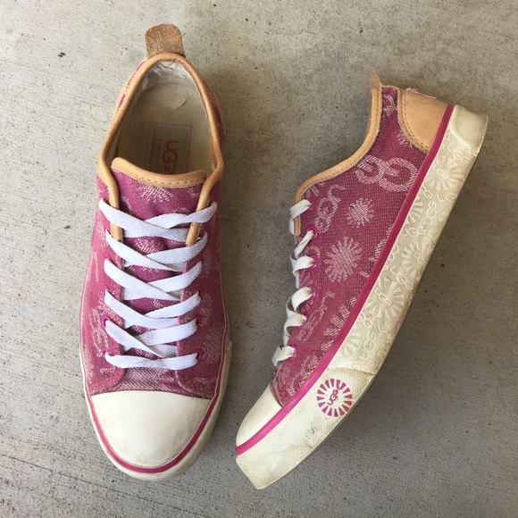 57fdc3b5ce1 Pink Ugg tennis shoes