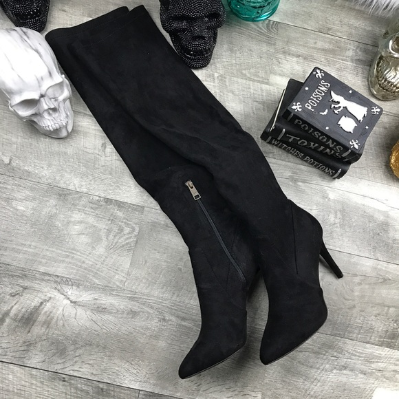 fc820e313e9 Joie over the knee thigh high black suede boots