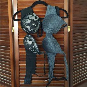 Pair of plus size black bras 42B