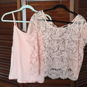 Plus size lace top and under shirt