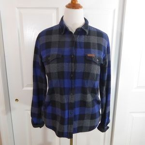 Women's heavy duty blue flannel