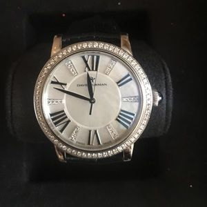 Mother pearl face & diamond David Yurman watch