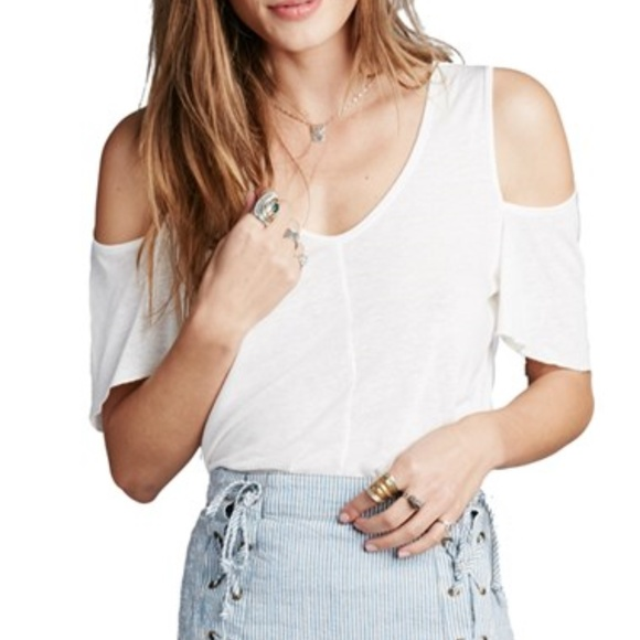 599e625f8ce325 Free People Bittersweet Cold Shoulder Shirt