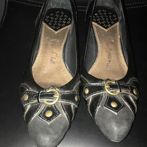 Sam Edelman black go-to-work pumps low heel size 7