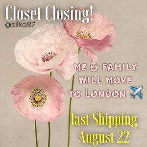 ❤️CLOSET CLOSING!