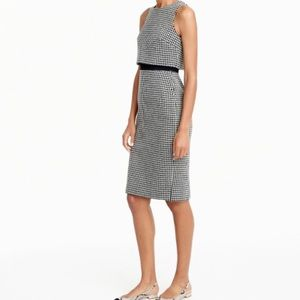 J.crew Going-places dress in houndstooth, NWT