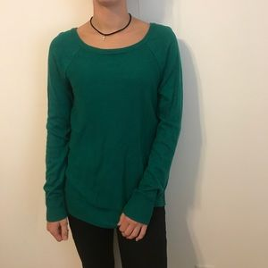 Sweaters - emerald green knit sweater