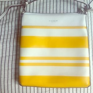 Coach Yellow Striped Crossbody