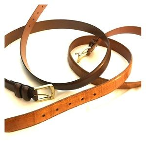 Other - Men's belts. One dark brown the other lighter