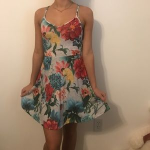 Dresses & Skirts - floral strappy skater dress
