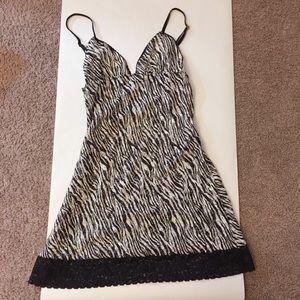 Victoria's Secret lace zebra printed lingerie