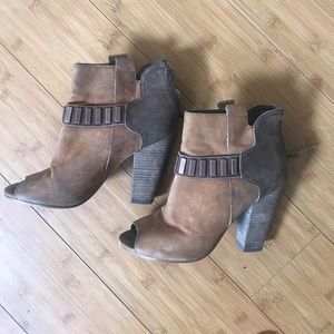 Guess open toe boots