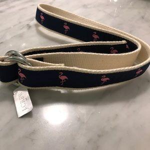 J. Crew flamingo belt